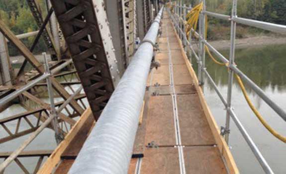 Railcar Bridge – Suspended Pipeline Protection