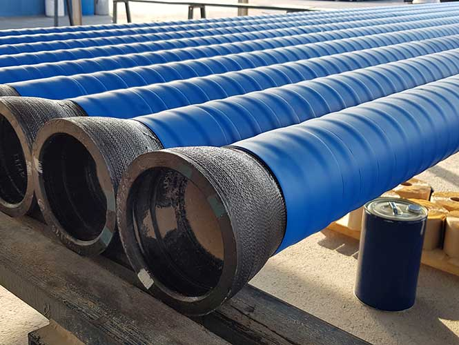 Densoclad Tape applied to pipe sections