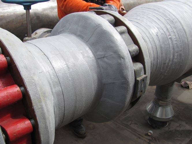 Denso ColorTape used to protect steel surface