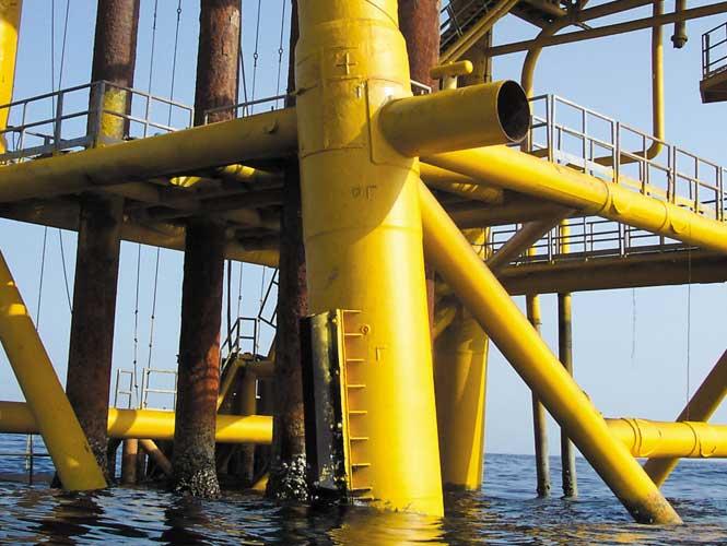 SeaShield Rigspray on a marine structure