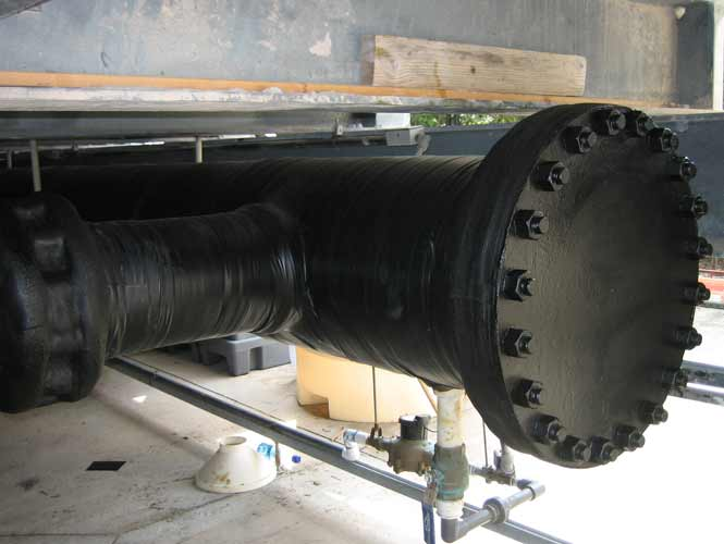 Denso utility tape applied to industrial piping