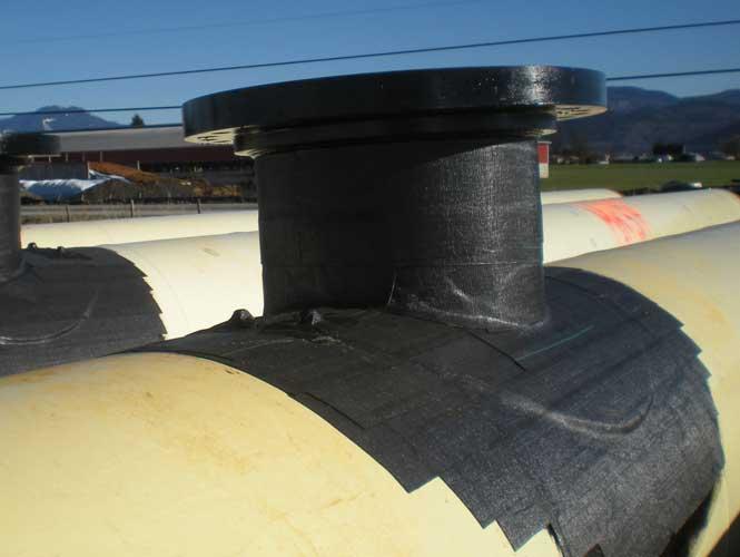 denso MB-50 pipeline wrap applied