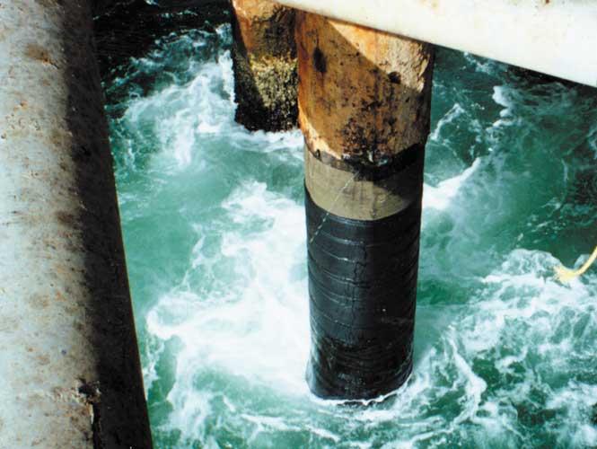 SeaShield 100 on metal piles
