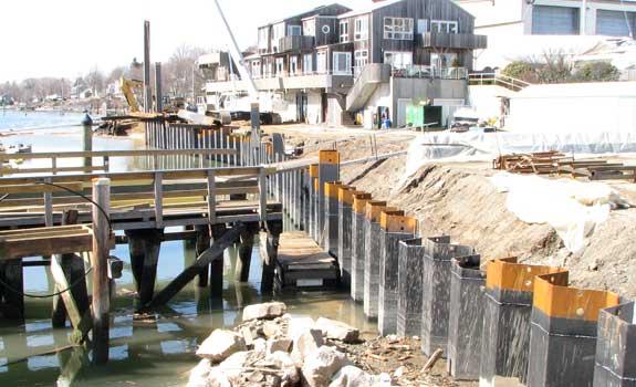Boston Area Marina – Steel Sheet Pile Protection
