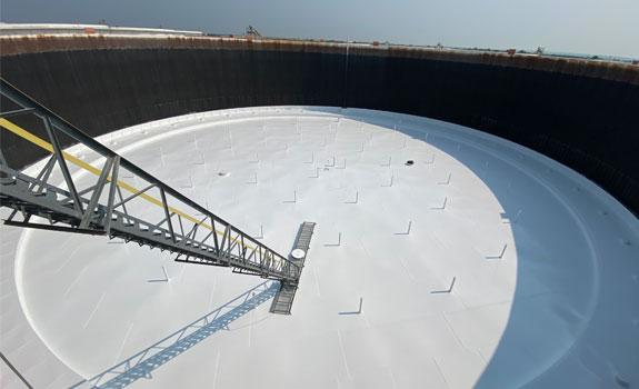 Oklahoma Storage Tank – Floating Tank Roof Coating Protection